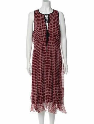 Joie Silk Knee-Length Dress w/ Tags Red