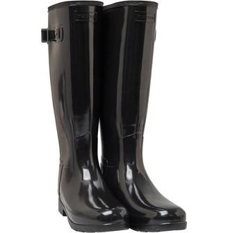 Hunter Womens Original Refined Wide Fit Tall Wellington Boots Black