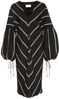 Noon By Noor Camarillo V-neck Gathered Sleeve Dress
