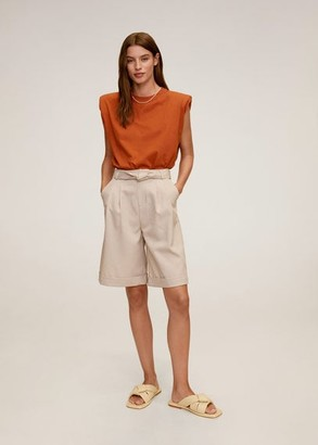 MANGO Shoulder pad t-shirt
