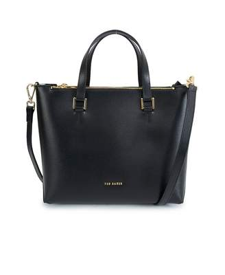 Ted Baker Leather Tote Bag Colour: BLACK, Size: One Size