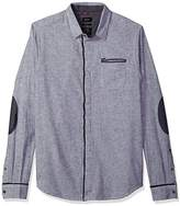 Buffalo David Bitton Men's Sowel Long Sleeve Slim Fit Stretch Button Down Shirt