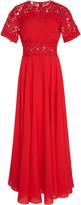 Giambattista Valli Lace-Paneled Crepe Maxi Dress