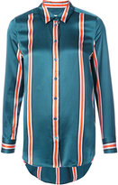 Equipment striped fitted blouse