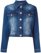 Philipp Plein crystal embellished denim jacket - women - Cotton/Spandex/Elastane - S