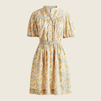 J.Crew Tall puff-sleeve shirtdress in Liberty Elysian Day floral