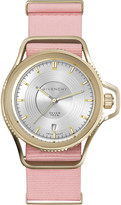 Givenchy GY100181s08 Seventeen yellow gold-plated and fabric watch