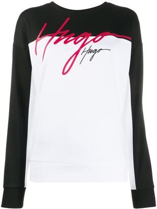 HUGO BOSS Logo Colour-Block Sweatshirt