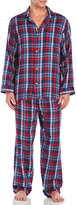 Izod Long Flannel Pajama Set