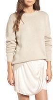 Treasure & Bond Women's X Something Navy Crewneck Sweater