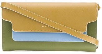 Marni Bellows wallet with shoulder strap