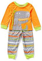 Komar Kids Little Boys 2T-4T Dinosaur Pajama Top & Printed Pajama Pant Set