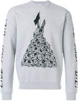 McQ bunny motif sweater