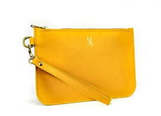 Village Leathers Soft Leather Clutch Bag - Yellow