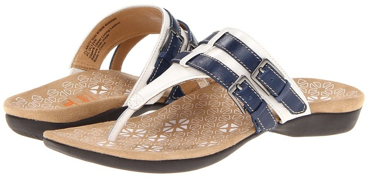 Orthaheel Dr. Weil by Clarity Toe Post (White/Cobalt) - Footwear