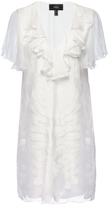 Nissa Embroidered Silk Dress