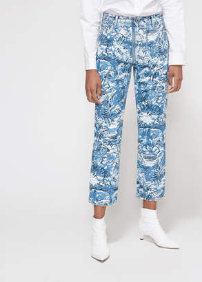 Off-White Off White Tapestry Crop Denim Pant