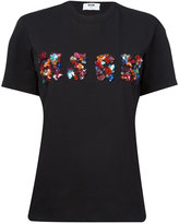 MSGM embellished logo T-shirt - women - Cotton - XS
