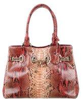 Christian Dior Chri Chri Python Shopping Tote