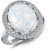 Lafonn Women's Simulated Opal Halo Ring