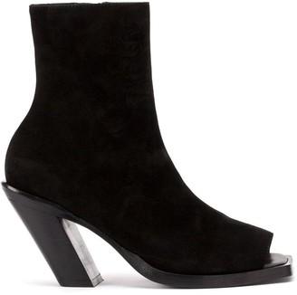 Ann Demeulemeester Peep-Toe Ankle Boots