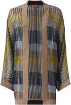Missoni Dolman Sleeve Striped Lurex Cardigan