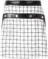 Courreges plaid A-line skirt - women - Cotton/Polyurethane/Cupro/Viscose - 36