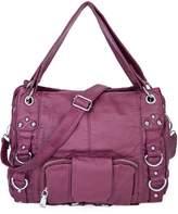 BAIGIO Woen's Soft PU Faux Leather Tote Bag Purse Satchel Handbag