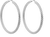 Bottega Veneta Intrecciato oxidised sterling-silver hoop earrings
