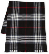 Fraas Woven Plaid Fringe Scarf