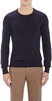 Maison Margiela Men's Leather-Elbow-Patch Sweater-NAVY