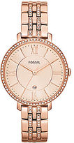 Fossil Ladies Jacqueline Rose Goldtone and Crystal Watch