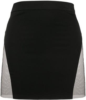 Loulou Side Slit Mini Skirt