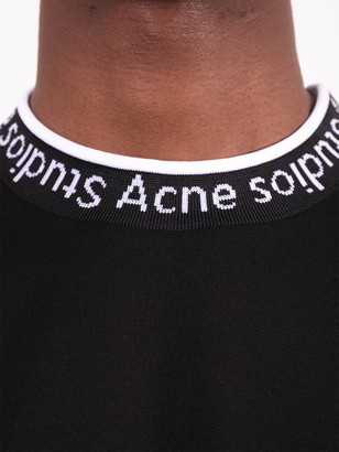 Acne Studios Crew-neck Logo Trim T-shirt Black