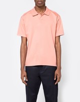 Acne Studios Norfolk Polo In Pale Pink