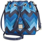 Dooney & Bourke Denim Chevron Kendall Crossbody Bucket Bag, A Macy's Exclusive Style