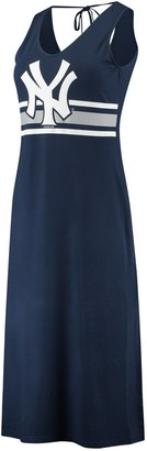 New York Yankees Women's G-III 4Her by Carl Banks Navy/Gray Opening Day Maxi Dress