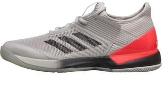 adidas Womens Adizero Ubersonic 3.0 Tennis Shoes Grey One/Core Black/Cloud White