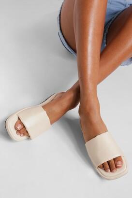 boohoo Chunky Padded Sandals
