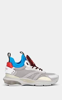 Valentino Garavani Men's Mixed-Material Sneakers - Gray