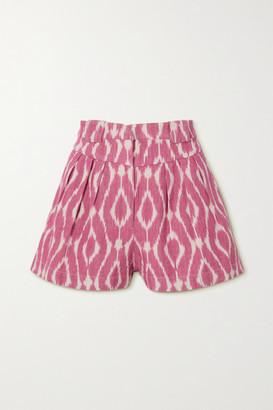 IRO Printed Cotton-pique Shorts