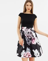 Lipsy Elizabeth Printed Skirt Prom Dress