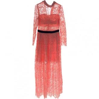 Self-Portrait Pink Lace Dresses