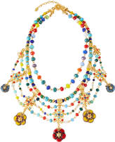Jose & Maria Barrera Draped Bib Necklace w/ Glass Beads