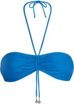 BEACH GLAZE Lake blue underwired bandeau bikini top