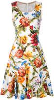 Dolce & Gabbana printed drill dress