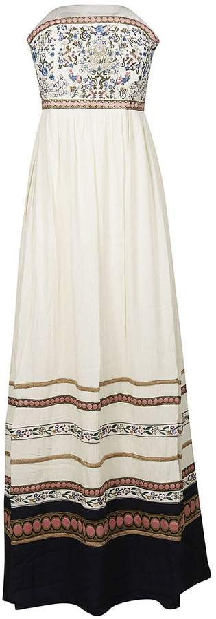 Alice + Olivia Quyen Embroidered Strapless Dress