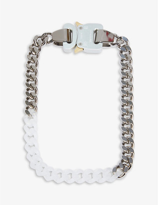 Alyx Cubic silver-tone and acrylic chain necklace