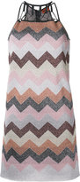 Missoni flitter effect zig-zag dress - women - Polyester/Cupro/Viscose - 40