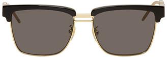 Gucci Black and Gold Square Sunglasses
